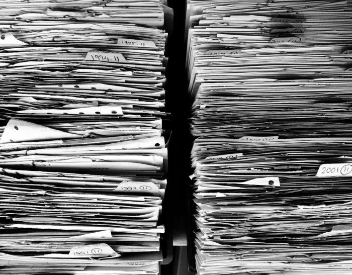 Dokumenty w segregatorach