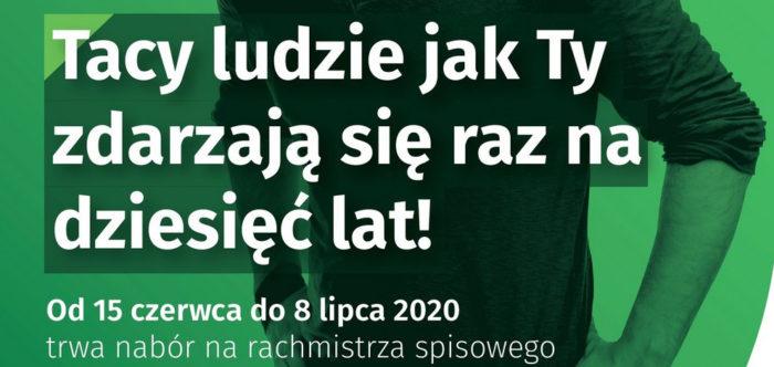 plakat_nabor_rachmistrzow_Powszechny_Spis_Rolny_2020_logo