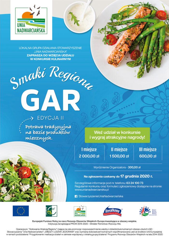 """Plakat promujący Konkurs Kulinarny """"Smaki Regionu"""""""
