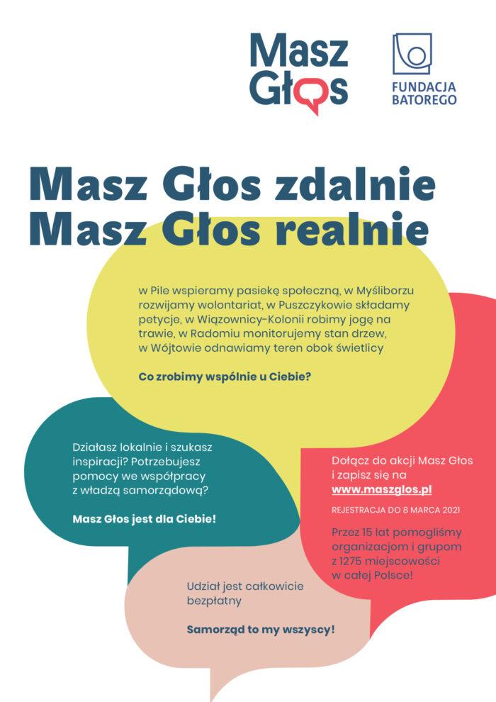 Plakat promujący akcję pn. Masz Głos