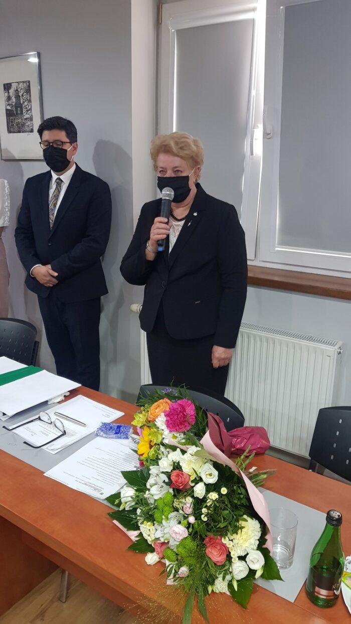 Wójt Gminy Słupca Grazyna Kazuś dziękuję wszytskim za otrzymane absolutorim